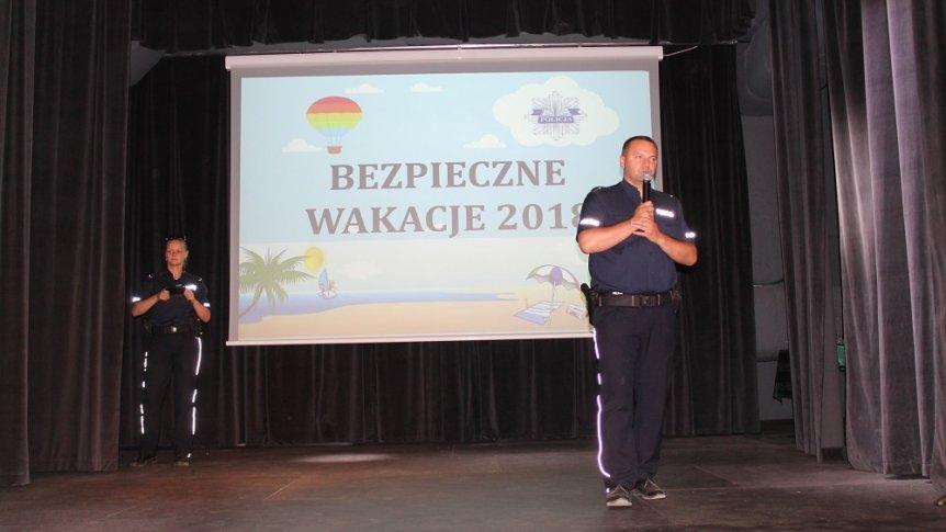 """Pogadanka  dla uczniów z ZPPO w Broku pt. """"Bezpieczne wakacje"""""""