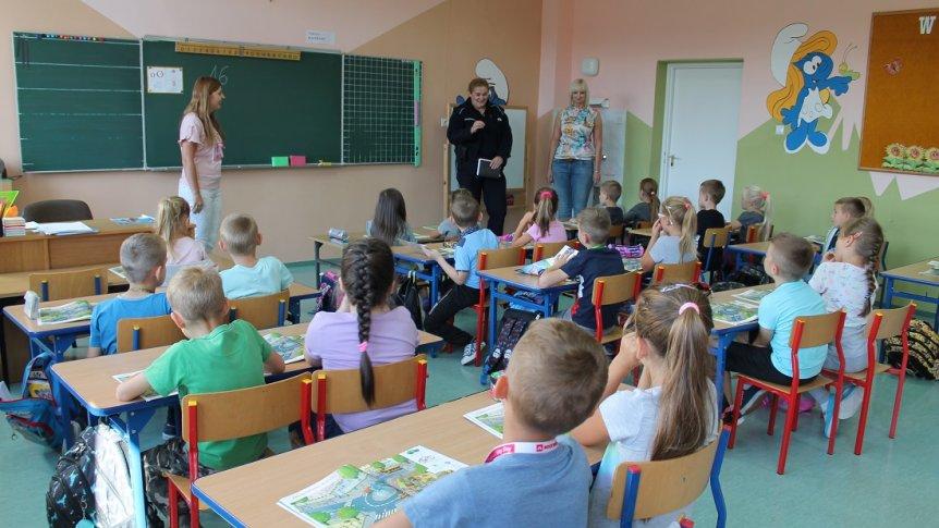 Spotkanie uczniów z ZPPO w Broku z dzielnicową