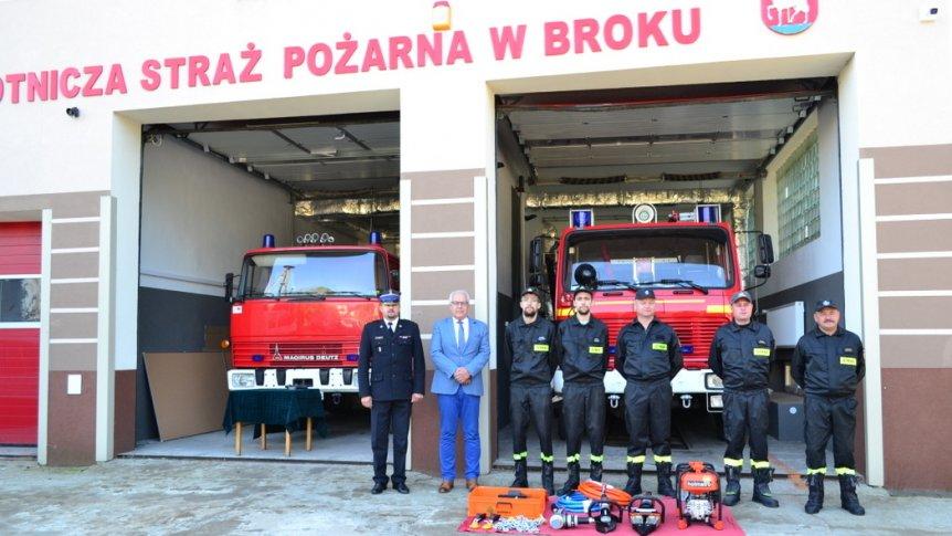 Gmina Brok pozyskała dotację na doposażenie jednostki OSP w Broku