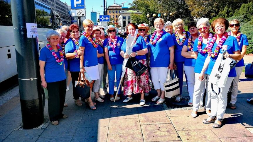 Brokowscy Seniorzy na Ogólnopolskiej Paradzie Seniorów w Warszawie