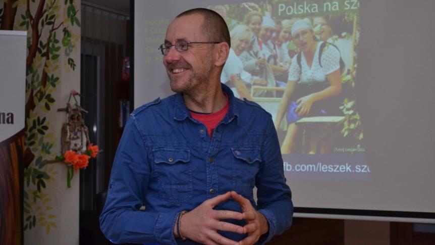 Podróżnik Leszek Szczasny był gościem Biblioteki
