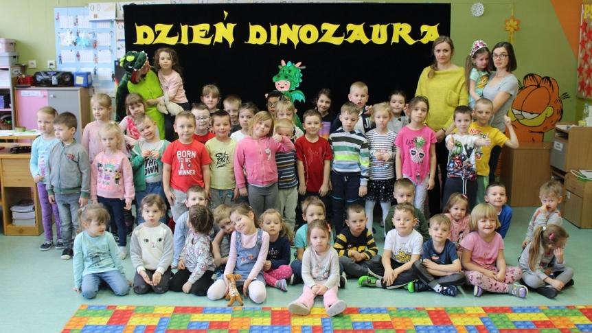 Dzień Dinozaura w Przedszkolu Miejskim w Broku