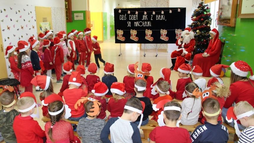 Mikołajki w Przedszkolu Miejskim w Broku