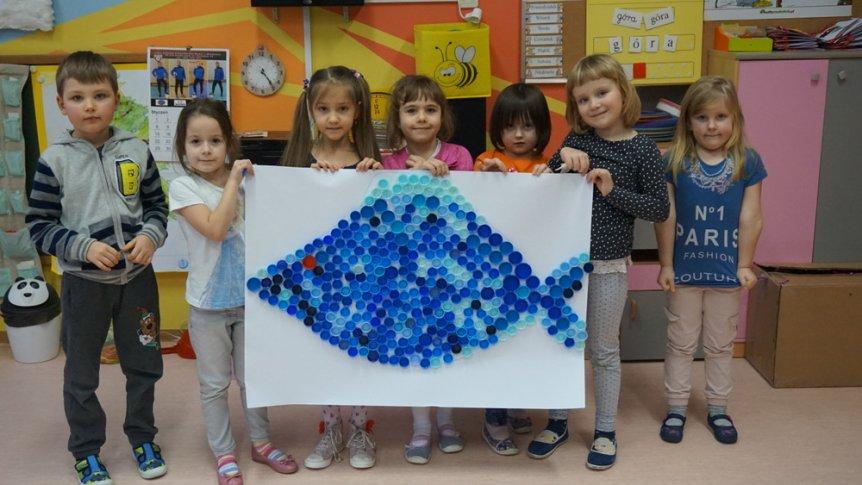 """Zajęcia koła plastycznego """"Mały artysta"""" w Przedszkolu Miejskim w Broku"""