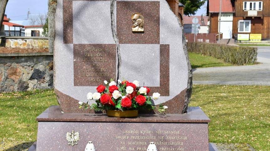 Obchody rocznicy Zbrodni Katyńskiej i Katastrofy Smoleńskiej w Gminie Brok
