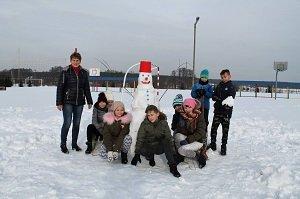 Bezpieczne zabawy na śniegu w ZPPO w Broku